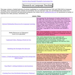 Language Teaching Research by Randall S. Davis