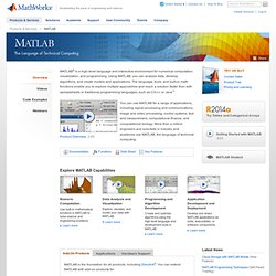 MATLAB - Le langage du calcul scientifique - MathWorks France