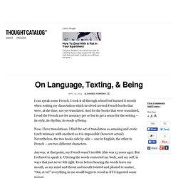 On Language, Texting, & Being