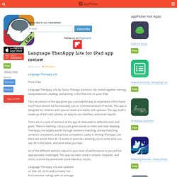 Language TherAppy Lite for iPad app review