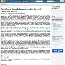 Why Choose Kannada Language And the Scope Of Translation Services by Donna Mills