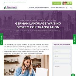NOW GERMAN LANGUAGE WRITING SYSTEM FOR TRANSLATION