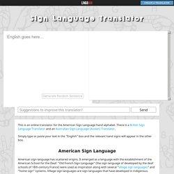 Sign Language Translator (Alphabet) ― LingoJam
