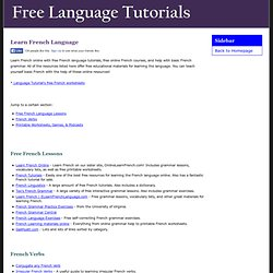 Learn French Online for free - Language Tutorial