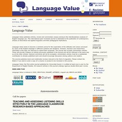 Language Value