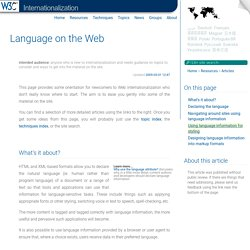 Language on the Web