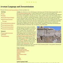 Avestan Language and Zoroastrianism