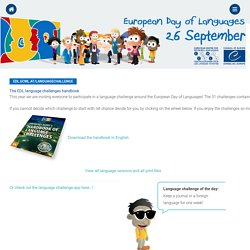European Day of Languages > Activities > Language challenge