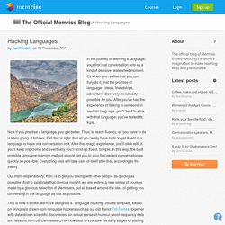 Hacking Languages by BenWhately on The Official Memrise Blog