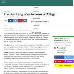 The Best Languages to Learn in College
