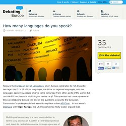 26/09/2012 How many languages do you speak? — Debating Europe