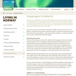 Languages & dialects / Living in Norway / Study in Norway / Home -
