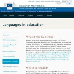 Las lenguas en la educación