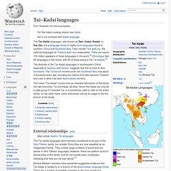 Tai–Kadai languages