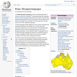 Pama–Nyungan languages