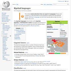 Kipchak languages