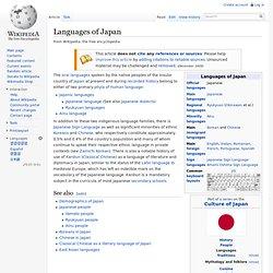 Languages of Japan