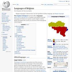Languages of Belgium