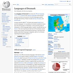 Languages of Denmark