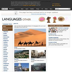 BBC - Languages - Quick Fix - Essential phrases in 40 languages