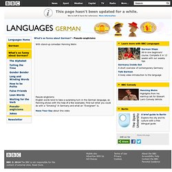 Languages - German - What's so funny about German? - Pseudo-anglicisms