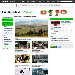 Languages - Italian - Italian Quick Fix