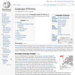 Languages of Norway - Wikipedia