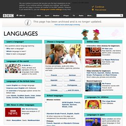 BBC Languages – Free online lessons to learn and study with