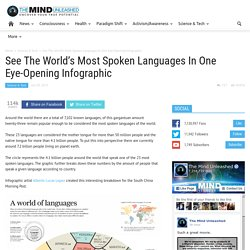 See The World's Most Spoken Languages In One Eye-Opening Infographic