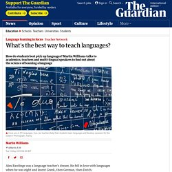 What's the best way to teach languages?