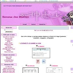 Etude de la langue - Bienvenue sur MimiClass !