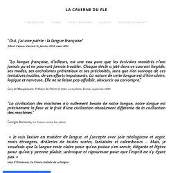 LANGUE FRANCAISE - LA CAVERNE DU FLE