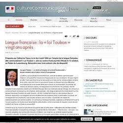 Langue française : la « loi Toubon» vingt ans après