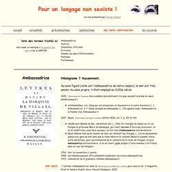 Langue : mots
