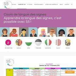 Cours de langue des signes 2019 – Association S5
