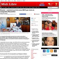 Dossier : comment survivre avec 600 € par mois en Languedoc-Roussillon