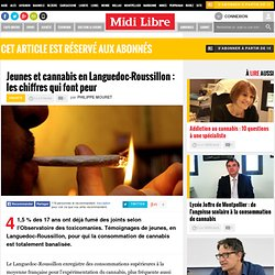 Jeunes et cannabis en Languedoc-Roussillon : les chiffres qui font peur