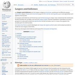 Langues amérindiennes