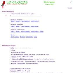 Livres en ligne dans toutes les langues - Bibliothèque LEXILOGOS