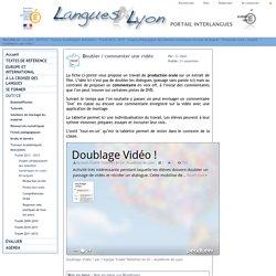 Langues@Lyon - Doubler / commenter une vidéo