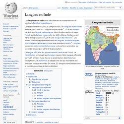 Langues en Inde