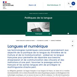 Langues et numérique - Ministère de la Culture