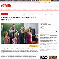 Un éveil aux langues étrangères dès la maternelle