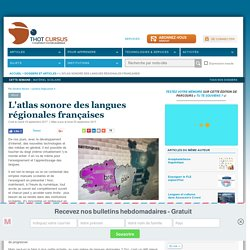 L'atlas sonore des langues régionales françaises