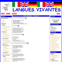le site des langues vivantes 06 - Chants comptines... - Comptines