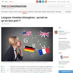 Langues vivantes étrangères: qu'est-ce qu'un bonprof?