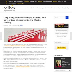 Languishing with Poor Quality B2B Leads? Amp up your Lead Management using Effective Profiling