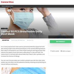 Lanhui 50 PCS Breathable Daily Dust Mask