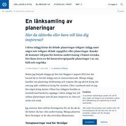 En länksamling av planeringar · Annika Sjödahl
