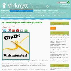 Länksamling med virkmönster på svenska!